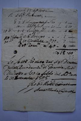 Sirop, chocolat, sucre, médicaments : factures, quittances, « Note des Depenses de la Maladie de ...